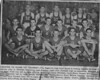 """1952-53 Nashville High School Boys Basketball Team<br /> <br /> The Nashville Herald, front page, February 19, 1953<br /> Photo caption:<br /> LOOKING TO CLASS """"A"""" TOURNEY – The Nashville high boys' squad is looking forward to Class A tourney play in Valdosta beginning next Tuesday night with Valdosta high as opponents.  Members of the team, front row left to right, Charles Matthews, James Whidden, Jerry Shaw, Russell Nix, Tommie Vickers; Center left to right, Bobby Prickett, Joe Peach, Melvin Plair, DeWitt Osborne, Garland McMillan, Jerry Dryden; back left to right, Guy Tittle, Ben Drawdy, Bobby Griffin, Bobby Rowan, and Charles Dix. – Photo by Wink Rogers."""