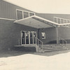 Front view of the brand new gymnasium at Berrien High School, 1963. Later this portion of the gym became the back.