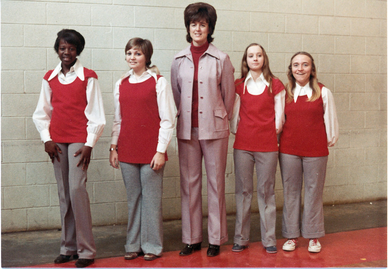 1970s BHS  Basketball - Dona Fields and managers