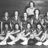 Enigma Girls Basketball Team, 1948-1949. Coach: Dorothy Clements<br /> Front Row: Jo Ann Hammond, Daphne Cauthen, Marjorie Easters, Patsy Exum, Jeanette Harper, Donell Henderson.<br /> Back Row: Jewell Swails, Betty Jo Clements, Ernestine Luck, Joyce Stinson, Ruby McMillan, Elizabeth Baldree