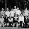 1949-50 Gaskins School Boys Basketball Team<br /> <br /> (photo shared by Carolyn Gaskins Averett)<br /> <br /> (front row, l-r):  Johnny Cooper, _____, _____, _____, Robert E. Griffin, _____, Huey Gaskins, Troy Griner.<br /> (back row, l-r):  Bud Hendley, _____, _____, Walter Griffis, Robert E. Griffin, Harvey Griner (Vickers??), James Griner (Gaskins??)<br /> <br /> Coach F.L. Blanton in back.<br /> <br /> Identifications and corrections requested.