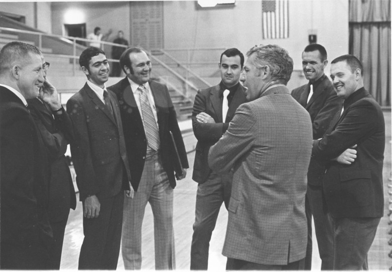 1971 April Stanley Simpson Appreciation Night with visiting coaches