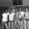 Alapaha Basketball Players in 1950s<br /> (L-R):  Joe Dixon, Weyman Vickers, Charles Matthews, Tommie Vickers, and Joe Peach.<br /> <br /> (photo shared by Tommie Vickers)