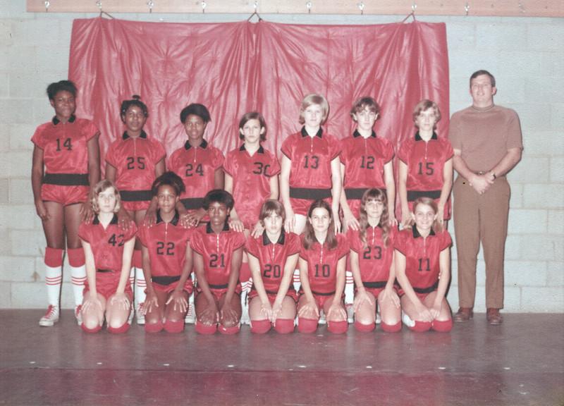 1969-70 BJHS Girls Basketball (color) -  JC