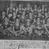 """1952-53 Nashville High School Boys Basketball Team<br /> <br /> The Nashville Herald, front page, February 19, 1953<br /> Photo caption:<br /> LOOKING TO CLASS """"A"""" TOURNEY – The Nashville high boys' squad is looking forward to Class A tourney play in Valdosta beginning next Tuesday night with Valdosta high as opponents.  Members of the team, front row left to right, Charles Matthews, James Whidden, Jerry Shaw, Russell Nix, Tommie Vickers; Center left to right, Bobby Prickett, Joe Peach, Melvin Plair, DeWitt Osborne, Garland McMillan, Jerry Dryden; back left to right, Guy Tittle, Ben Drawdy, Bobby Griffin, Bobby Rowan, and Charles Dix. – Photo by Wink Rogers.<br /> <br /> (newspaper clipping shared by Tommie Vickers, original photo needed)"""