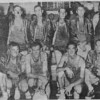 1956 Alapaha Lions Basketball Team<br /> <br /> The Tifton Gazette, page 6, Monday, December 24, 1956<br /> THE ALAPAHA LIONS AC CAGE TEAM will meet the world-famous House of David touring basketball group tonight and Tuesday night in two top-notch games, tonight in Omega High gym, and Christmas night in Alapaha gym.   Front row, left to right, Hubert Moore, Jim Moore, Tommy Vickers, Elliot (Ears) Hester; back row, l to r, Toby Powell, coach, Autrey Moore, Buford Powell, Rufus Powell, Johnny Snee, Baxter Bearden.<br /> <br /> (shared by Tommie Vickers)<br /> <br /> Newspaper clipping - original photo needed