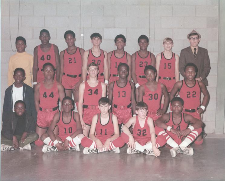 1969-70 BJHS Boys Basketball (color) -  JC