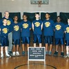 2001 Moore Lumber Company Fighting Irish basketball team<br /> <br /> Jonathan Wells, ____, ____, Jud Ott, ____, ____, Lance Harrell<br /> Coach Tommie Vickers standing in back