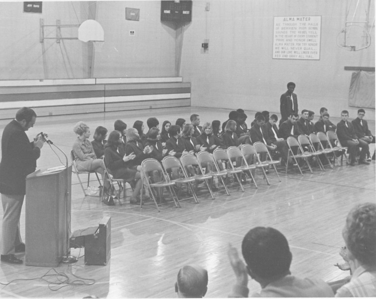1971 April Stanley Simpson Appreciation Night basketball teams