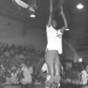 """Rose Smith Shooting Basketball While Playing for Berrien High Rebelettes<br /> <br /> Teams Associated With:BHS basketball, BHS track, USM basketball<br /> <br /> Awards/Highlights:<br /> 1976 – Region 1-AA Champion in the high jump … 1977 – BHS basketball Most Valuable Offense award … Region 2-A Champion in the high jump … member of Region 2-A Champion 440 Relay team (Smith, Wright, Harkins, Washington) … member of Region 2-A Champion Mile Relay team (Smith, Wright, Harkins, Washington) … 1978 – AJC All-State Basketball team … BHS basketball Most Valuable Player award … BHS basketball Best Offense award … Region 2-A Champion in the high jump and the 220 yard dash … member of Region 2-A Champion Mile Relay team (Washington, Wright, Smith, Harkins) … member of Region 2-A Runnerup 440 Relay team (Washington, Wright, Smith, Harkins) … finished 3rd at State A track meet in the high jump … listed in publication """"American High School Athlete"""" … 1979 – AJC All-State Basketball team … GACA All-Star basketball South team … member of state AAA champion girls basketball team … signed scholarship to play basketball for University of Southern Mississippi"""
