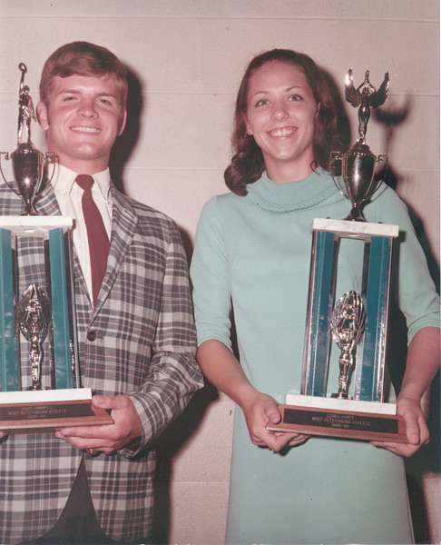 1969 Sports Banquet David Connell and Lenna Carey -  JC