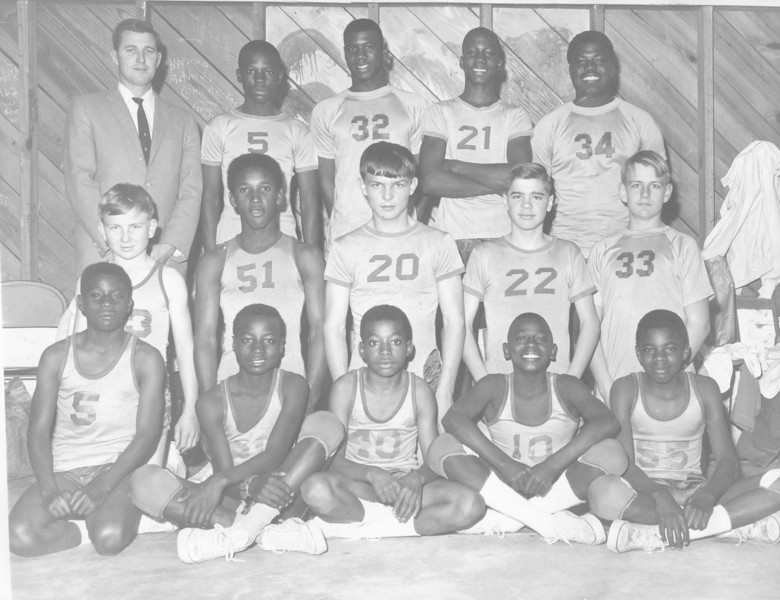 1968-69 Alapaha School boys basketball team<br /> <br /> The Berrien Press, page 10, February 27, 1969<br /> photo caption:<br /> ALAPAHA TIGERS - Left to right, are:  Front:  Marion Banks, Larry Smith, Rupert Wiley, Johnathan Lewis, Rudolph Smith; second row, Eston Connell, Donnie Deberry, David Tucker, Mack Legette, Ronald Metts; back row, coach Kenny Giddens, Gregory Davis, Mickey Carter, Ned Wooten, and Ronnie Carter.