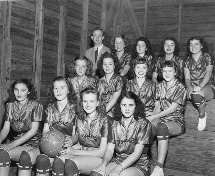 1947-48 Nashville High School Girls Basketball Team<br /> <br /> (photo by Jamie Connell)