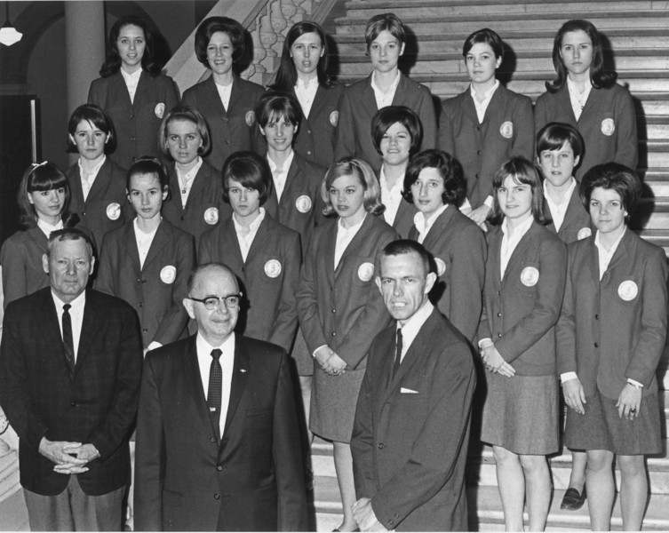 1967-68 Girls basketball team at state capitol