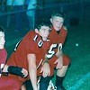Jake Purvis (10) and Adam Eisenhower (50) on BHS sidelines 1999<br /> <br /> (photo by Gene Shearl)