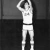 "Wayne Jones - basketball 1967<br /> <br /> This picture appeared with the following story:<br /> The Berrien Press, page 5, May 25, 1967<br /> Wayne Jones Joins ABAC Golden Stallions on Contract<br /> 	Wayne Jones, a three year starter on Stanley Simpson's Berrien Rebels, has inked a pact with the Abraham Baldwin Golden Stallions, ABAC basketball Coach Benny Dees announced recently, Jones will join a strong squad which has posted nothing but winning records for the past several campaigns.<br /> 	Jones, a tremendous natural athlete, averaged 19.6 points per game in his senior year while pulling down the third-highest total of rebounds for Berrien this year.  He was generally conceded to be one of the best defensive players in the region.<br /> 	The 5'9"" guard, whom Coach Dees has watched since Jones' freshman year, is also a standout in football, where he was an Honorable-Mention All-Stater; baseball, where he was a consistent .300 hitter; and track, where he has been the Rebel thinclads' leading broadjumper and triple jumper, while performing strongly in the 220 and 100-yard dashes.<br /> 	Jones hopes to complete two more years of college after his days at ABAC, with an eye toward coaching or recreation work as a major field of study."