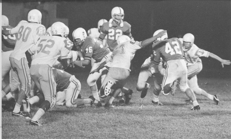 Lamar Jones Tries for Extra Point Against Brantley County, November 1970