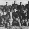 """1938 Nashville High School football team<br /> (from newspaper clipping - ORIGINAL PHOTO NEEDED!)<br /> <br /> The Berrien Press, page 8, November 30, 1988<br /> (from an article about the 50th anniversary of the team's championship)<br /> Photo caption:<br /> SOWEGA CONFERENCE CHAMPIONS – Nashville High School won the SOWEGA championship in 1938.  Members of the team were [front row, L-R] Irvin Williams, Jim Perry, Willard Nix, Buford Akridge, James """"Tom"""" Shaw, Pete Frost, and Albert Williams.  [Back row, l-r] Coach Joe Sam Robinson, Bill Mathis, Howard Purvis, James Connell, John Chambless, John Warren Montgomery, and Julian Connell."""