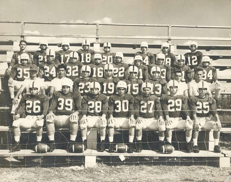1955 Berrien High School Football Team<br /> Tommy Bradford (35), Owen Williams (32)  other identifications needed