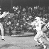 Mike Flowers Catches Pass Against Fitzgerald, October 1970