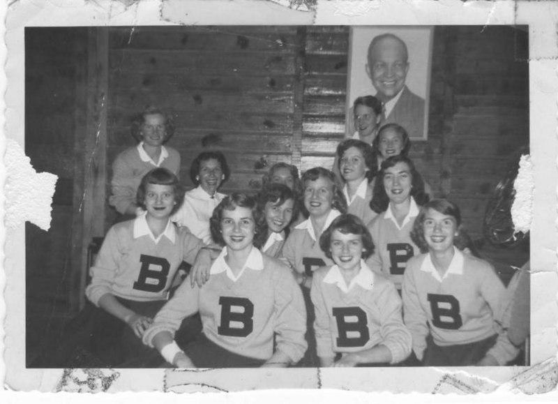 Berrien County Cheer leaders, 1954-55