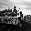 1989 BHS cheerleaders on fire truck<br /> <br /> (Bo Lovein, driver)