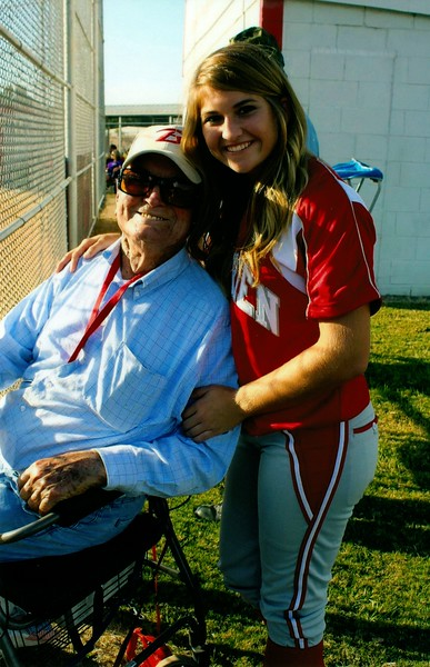 Abbey Trella and Mr. Wilson Connell - BHS sports' biggest fan