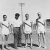 David Connor, Coach Kent Llewellyn, Ashley Sewell, Johnny Akins, c 1960-61.