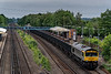 66793 at Winchfield with 4Y19, the 12:30 Mountfield Sidings - Southampton West Docks, empty Gypsum, on 30th June 2021.