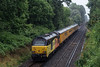 67027 top & tail with 67023 heading away from Guildford, towards Woking with 1Q54, <br /> the 12:46 Eastleigh Arlington - Tonbridge West Yard Test Train, on 5th August 2021. <br /> It should be noted that it was raining at the time, but the prospect of 67s, instead of the usual 73/9s on this working was well worth it.