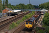 66766 at Winchfield with 4Y19, thr 12:30 Mountfield Sidings - Southampton West Docks, <br /> on 26th July 2021.