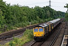 66722, 73107, 442420 and 73128 pass Winchfield with 5Q85, <br /> the 11:50 Wolverton Centre Sidings - Bournemouth T&RSMD, on 26th July 2021.