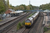 """67021 passes Winchfield Station with 1Z87, the 10:31 London Victoria - Whitchurch <br /> """"British Pullman"""", on 22nd October 2021. The train ran via Southampton and Laverstock"""