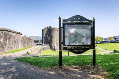Caerphilly Castle & Town September 2020 Dafydd Williams Park