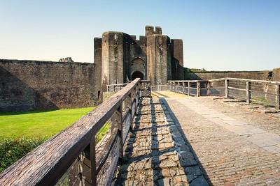 Caerphilly Castle & Town September 2020