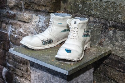 Chartist Boots at Newport Cathedral of St Woolos. 01