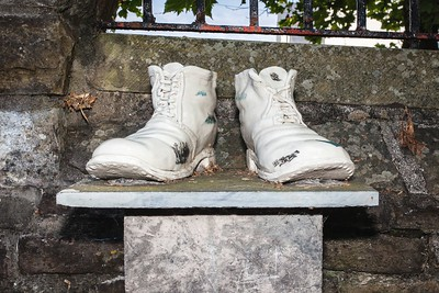 Chartist Boots at Newport Cathedral of St Woolos. 07