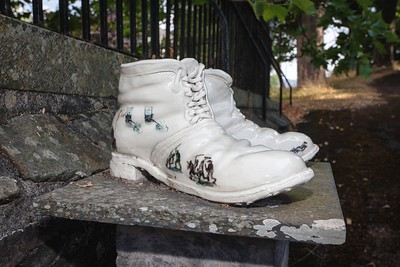 Chartist Boots at Newport Cathedral of St Woolos. 05