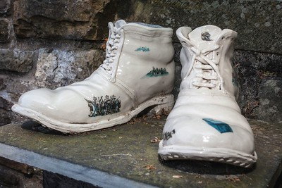 Chartist Boots at Newport Cathedral of St Woolos. 04