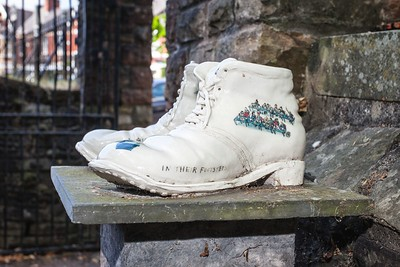 Chartist Boots at Newport Cathedral of St Woolos. 02