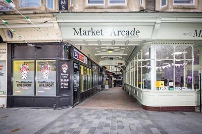 Market Arcade Entrance in High Street Newport