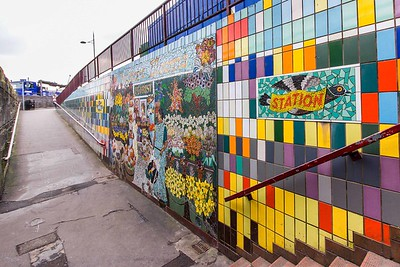 Mosaic Murals at the Old Green Kingsway Underpass Newport 04
