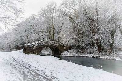 Snow on the canal in Risca
