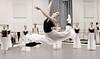 Michelle Carpenter and Artists of Houston Ballet rehearsing MEDIÆVAL BÆBES