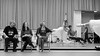 Johnny Eliasen, Ballet Mistress Dawn Scannell, Ballet Mistress Louise Lester, and Artists of Houston Ballet in rehearsal of La Sylphide