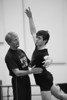 Johnny Eliasen and Conner Walsh rehearsing La Sylphide