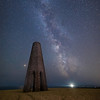 The Milky Way over the Daymark Tower above Kingswear, South Devon