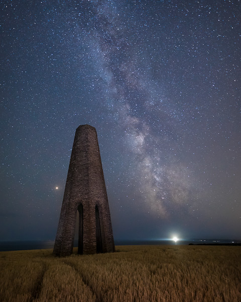 The Milky Way over the Daymark Tower above Kingswear, S.Devon - 1
