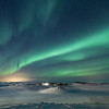 Myvatn Aurora over the Skútustaðagígar Pseudocraters  - 1