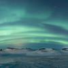 Myvatn Aurora over the Skútustaðagígar Pseudocraters  - Panoramic 2